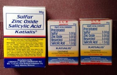 3 Katialis Soap and Ointment for Pimples Prickly Heat Itch Ringworm